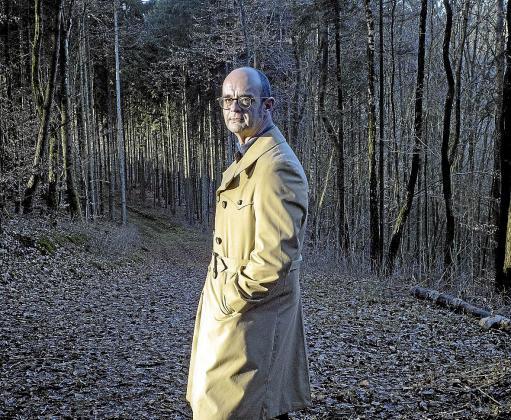 Sebastià Alzamora en un bosque de las afueras de Luxemburgo.
