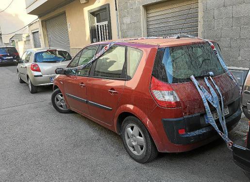 El Renault Mégane Scénic en el que falleció la bebé, en Manacor.