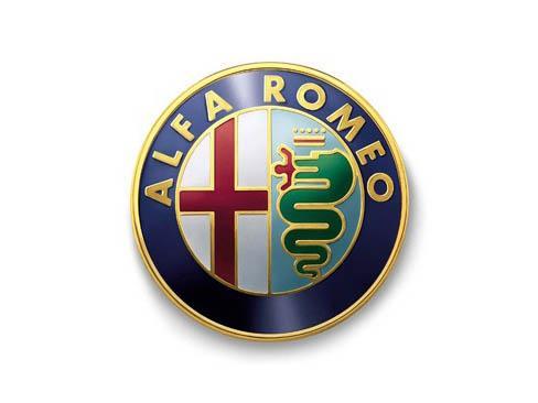 Logotipo de la casa de automóviles Alfa Romeo.