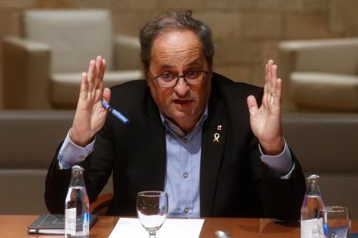 .El presidente de la Generalitat, Quim Torra, en una imagen tomada este miércoles.