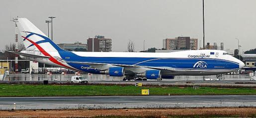 Uno de los aviones cargueros que llegaron a Palma esta semana.