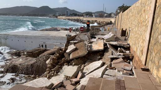 El temporal ha causado importantes destrozos en las zonas turísticas.