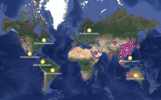Google Maps actualiza los casos de coronavirus.