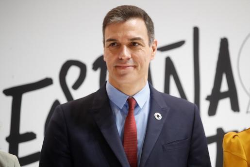 El presidente del Gobierno de España Pedro Sánchez, durante la visita a la feria internacional de turismo Fitur 2020.