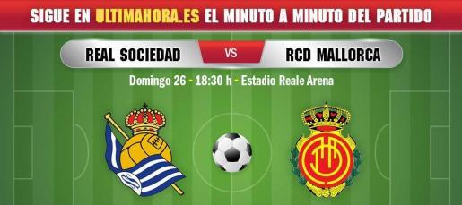 El Real Mallorca buscará su primera victoria a domicilio en el feudo de la Real Sociedad.