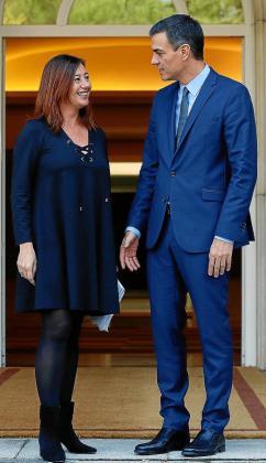 La presidenta del Govern ha pedido mantener una reunión con el presidente Pedro Sánchez para plantearle las necesidades de Balears, entre las que está la reforma del sistema de financiación autonómica.