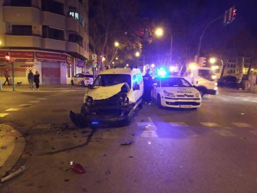 Estado en el que quedaron los vehículos en el accidente.