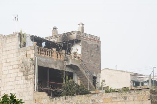 Imagen del estado de la vivienda donde se produjo el incendio.