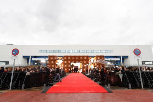 Vista general de la alfombra roja de la 34 edición de los Premios Goya que se celebró el sábado pasado en Málaga.