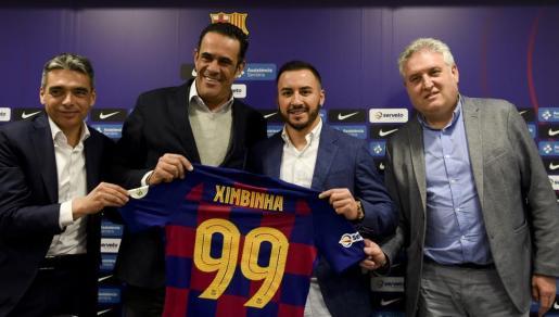 Ximbinha durante su presentación como nuevo jugador del Barcelona.