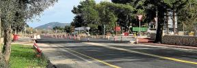 Cierran la carretera vieja de Palma a Alcúdia por las obras del enlace de Lloseta a la autopista