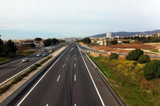 La autopista de Inca, en el enlace con sa Cabana.