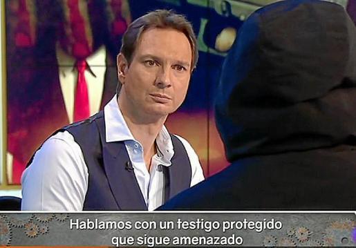 El testigo 29, en un programa de televisión.