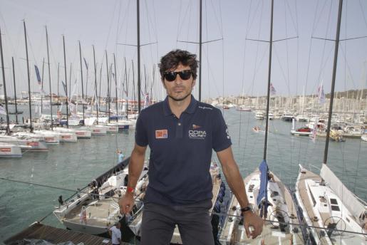 Andrés Velencoso, durante su última visita a la isla este pasado verano.