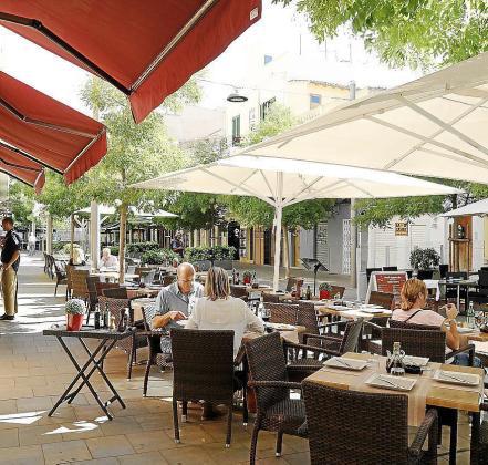 Imagen de archivo de terrazas de Santa Catalina.