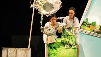 El espectáculo de marionetas 'El monstre de colors', en el Teatre Catalina Valls