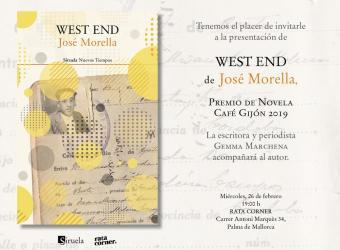 Presentación del libro 'West End' de José Morella en Rata Corner