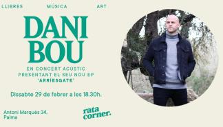 Concierto acústico de Dani Bou en Rata Corner