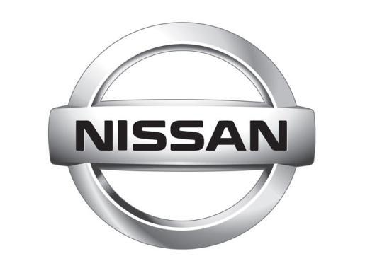 Logotipo de la casa Nissan de automóviles.