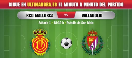 El Mallorca y el Valladolid se enfrentan en Son Moix en un partido clave para la lucha por la permanencia.
