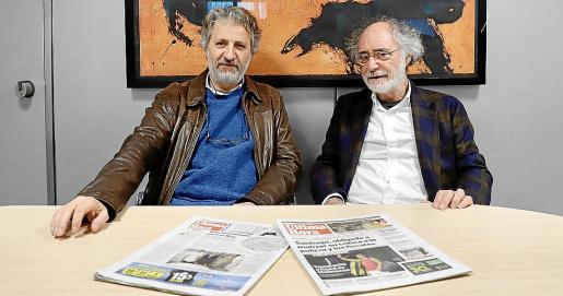 Bartolomé Seguí y Ferran Aguiló, en la redacción de nuestro periódico.