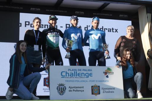 Imagen del podio del Trofeo Pollença-Port d'Andratx de la Challenge.
