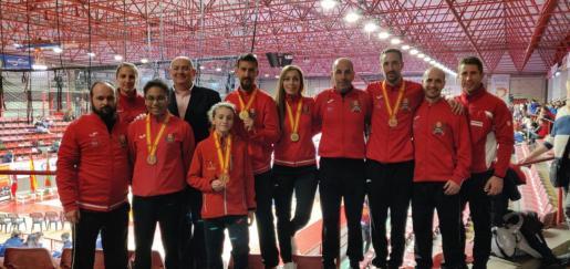 Imagen de la representación balear en el Campeonato de España de Torrelavega.