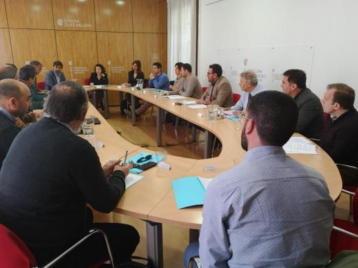 Imagen de la reunión de la Comissió contra la violència a l'Esport de les Illes Balears.