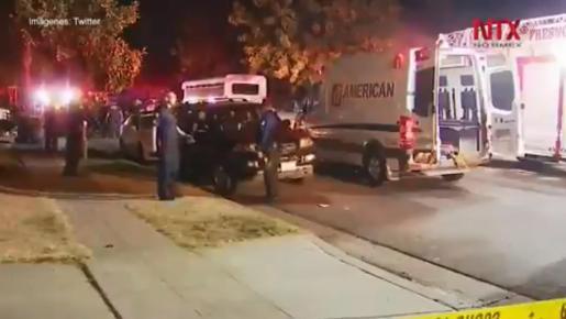 Ambulancias y policías acudieron al lugar de los hechos.