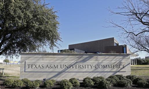 Campus de la Universidad de Texas A&M en la localidad de Commerce, situada en el este del estado de Texas,