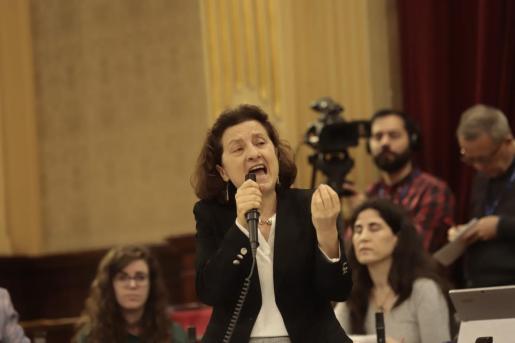 Santiago, este martes, durante su intervención en el Parlament.