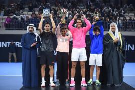 Nadal gana a Ferrer en la inauguración de su Academia en Kuwait