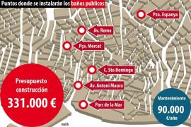 Cort instalará seis baños públicos gratuitos en el centro de Palma