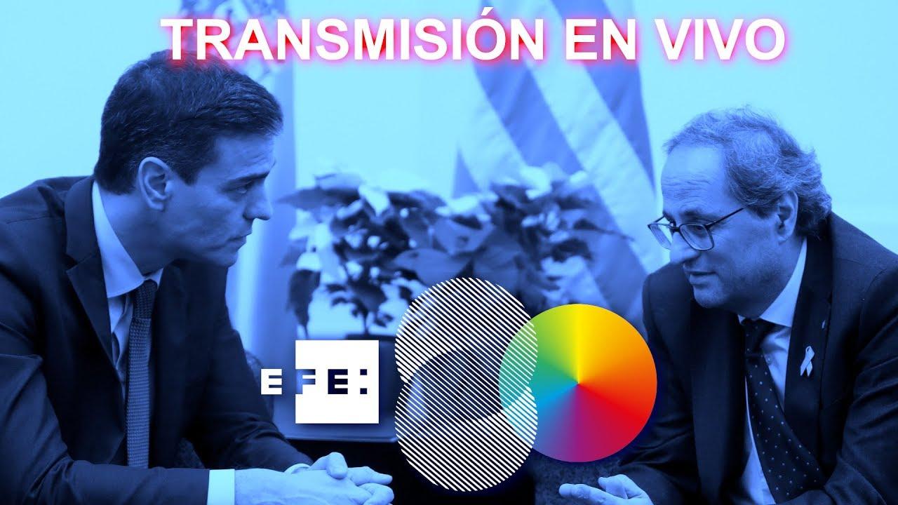 Así han sido las comparecencias de Sánchez yTorra tras reunirse en Barcelona