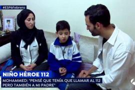 Premian al niño que salvó a su madre llamando al 112