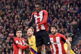 Un gol de Williams da la victoria al Athletic frente al Barcelona y el pase a semifinales