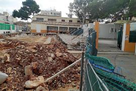 Los profesores denuncian las malas condiciones de trabajo en ses Comes, Portocristo, por las obras