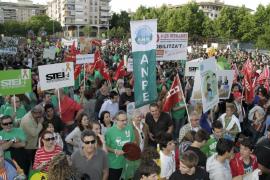 Sonora y masiva protesta en Palma para reivindicar una educación «sin recortes»