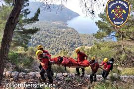 Rescatan a una senderista en el Port des Canonge con una fractura de tobillo
