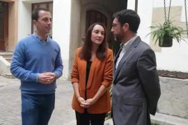 Llorenç Galmés, Beatriz Camiña y Toni Amengual.