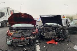 Aparatoso accidente múltiple en Madrid
