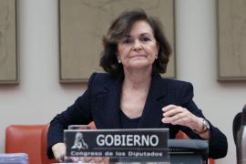 Carmen Calvo dice que la suspensión del Mobile no es por el coronavirus, sino por otras razones