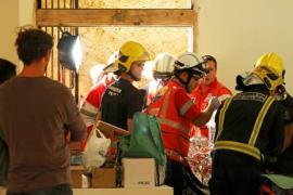 Laborioso rescate de un hombre que murió tras precipitarse desde un tercer piso en Palma