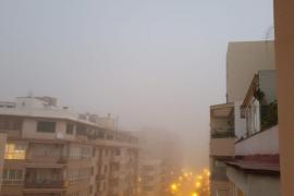 Palma amanece envuelta en un manto de niebla