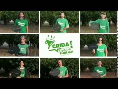 Vuelven las camisetas verdes de Crida para defender la educación pública