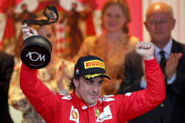 Alonso: «Estoy muy contento,  acabar en el podio aquí es especial»