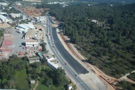 Los avances de las obras de la carretera de Ca na Negreta y la nueva variante de Jesús, en imágenes