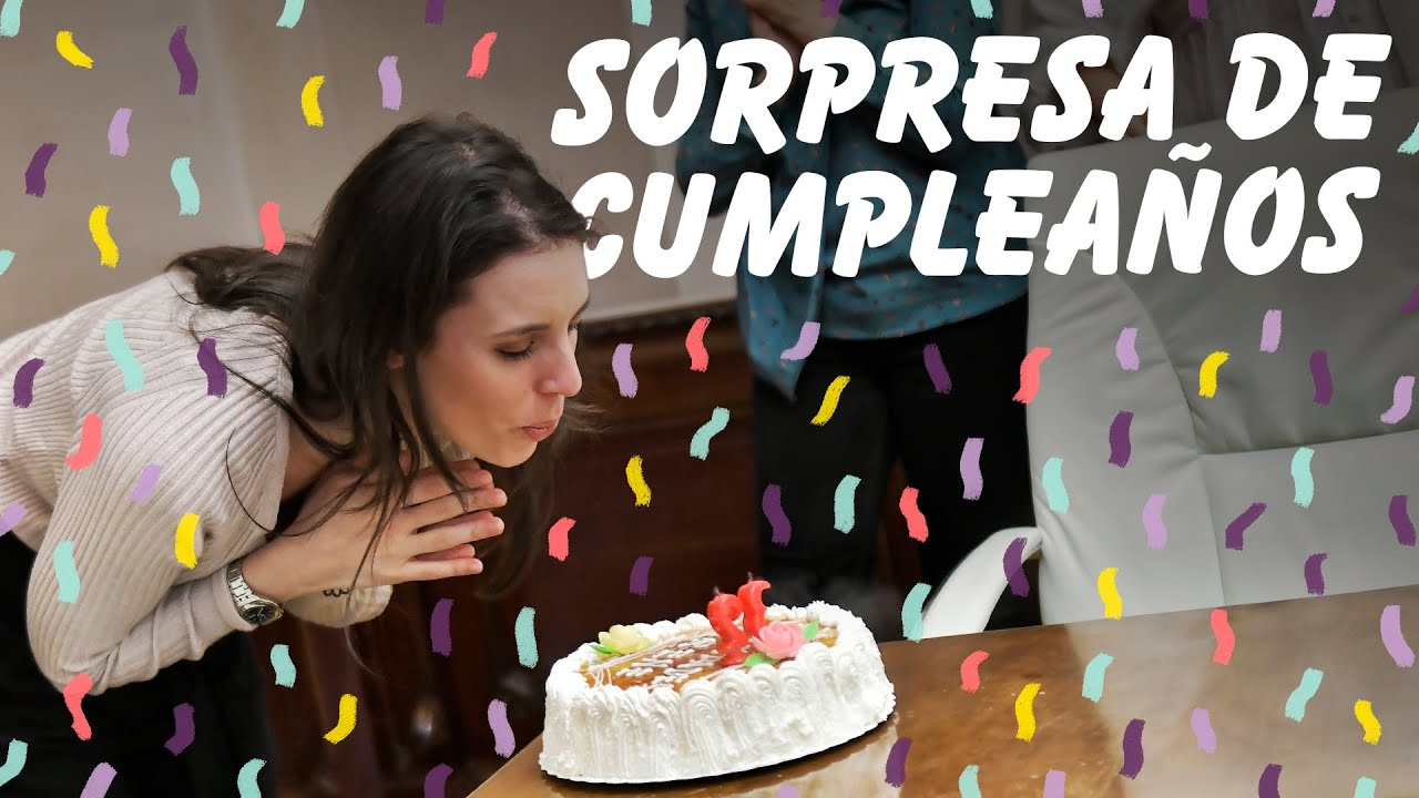Así celebró Irene Montero su cumpleaños sorpresa