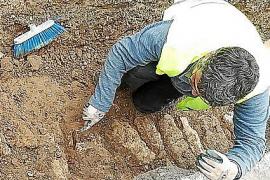 Las obras del gas en una calle de Alcúdia destapan los restos de una habitación romana