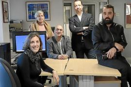 Pep Verger (centro), Aina Ginard, Daniela Pagliarulo, Pedro Aguiló Mora y Miquel Ángel Cañellas.